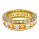 Goldtone Birthstone Eternity Ring, One Size