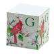 Personalized Self Stick Note Cube - Initial With Cardinal De