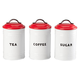 Tea, Coffee and Sugar Canisters, Set of 3 by HMP, One Size