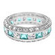 Birthstone and CZ Eternity Sterling Silver Ring, One Size