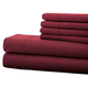 Hotel 5th Ave. 6pc Microfiber Sheet Set - Maroon, One Size
