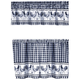 Rooster Barnyard Kitchen Tier and Valance Set, One Size