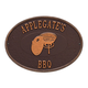 Personalized Charcoal Grill Deck Plaque, One Size