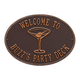Personalized Martini Deck Plaque, One Size