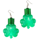 Jumbo Shamrocks Lighted Earrings, One Size