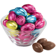 Solid Chocolate Foil Eggs, 8.5 oz., One Size