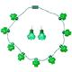 Jumbo Shamrock Necklace and Earrings, One Size