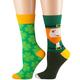 Leprechaun and Shamrock Socks, Set of 2, One Size