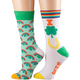 Lucky Charm and Rainbow Socks, Set of 2, One Size