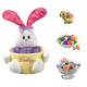 Personalized Pink Easter Basket and Candy, One Size