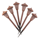 Brown Color Changing Solar Lights Set of 6, One Size