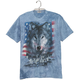 Patriotic Wolf Pack T Shirt, One Size