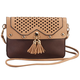 Urban Energy™ Cross Body Laser Pattern Bag with Tassels, One Size