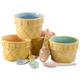 Ceramic Ice Cream Cups With Spoons, Set of 8, One Size