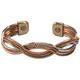 Magnetic Cuff Copper Braid Bracelet, One Size