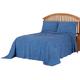 Florence Chenille Bedspread/Sham Twin Wedgewood by OakRidge, One Size