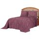 Florence Chenille Bedspread/Sham Full Merlot by OakRidge, One Size