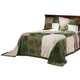 Patchwork Bedspread/Sham Queen Sage by OakRidge, One Size