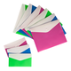 Set of 9 Colored Poly Envelopes with Snap Closure, One Size