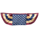 Vintage American Flag Bunting, One Size