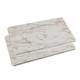 White Marble Burner Covers Set of 2