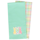 Easter Bunny Applique Woven Tea Towels Set of 2, One Size