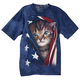 Patriotic Kitten T-Shirt, One Size