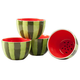 William Roberts Ceramic Watermelon Bowls Set of 4