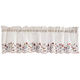 Floral Embroidered Insert Valance, One Size