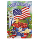 Welcome Americana Cherries and Birds Garden Flag, One Size