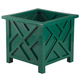 Green Chippendale Planter, One Size