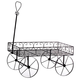 Metal Scroll Wagon Planter, One Size