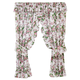 Ribbons & Roses Floral Plisse Curtains, One Size