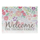 Personalized Floral Family Doormat, One Size