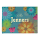 Personalized Spring Flowers Doormat, One Size