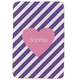 Personalized Pink Heart Purple Striped Sherpa Throw 37