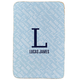 Personalized Blue Baby Name & Initial Sherpa Blanket 30