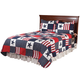 Americana Microfiber Quilt Set, One Size