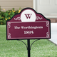 Personalized Magnetic Address Yard Sign