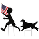 Patriotic Boy and Dog Stakes Set by Fox River Creations™, One Size