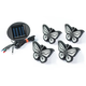 Inground Solar Butterfly Lights Set of 4, One Size