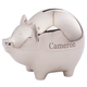 Personalized Silver Plated Piggy Bank, One Size