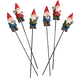 Gnome Planter Stakes by Maple Lane Creations Set of 6, One Size