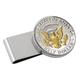 Monogrammed Presidential HalfDollar SS Silvertone Money Clip, One Size