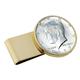 Monogrammed JFK Half Dollar Money Clip, One Size