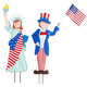 Metal Patriotic Boy and Girl by Fox River Creations™, One Size