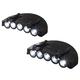 LED Cap Visor Lights Set of 2, One Size