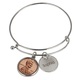 Year To Remember Penny Personalized Bangle Bracelet, One Size