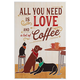 All You Need is Love & Coffee by Veronique Charon Wall Art, One Size