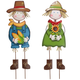 Metal Scarecrow Boy and Girl Stakes by Maple Lane Creations™, One Size